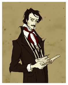 Edgar Allan Poe by *AbigailLarson on deviantART