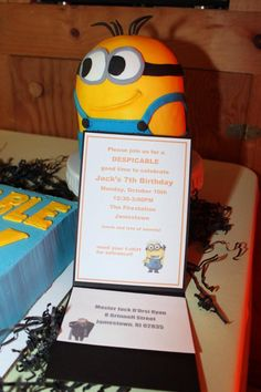 birthday party invitations, minion birthday, birthday parties, parti idea, bday parti