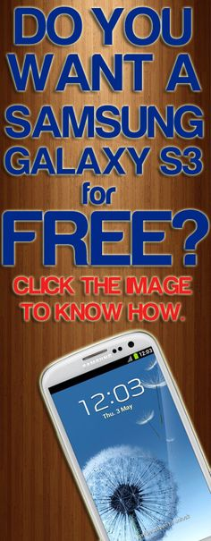 We are giving away #SamsungGalaxyS3 for FREE! Click the image to know how! Don't forget to repin! :)
