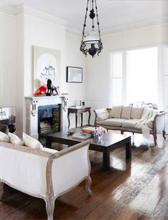 Love those French provincial sofas.