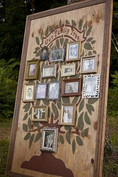 Cool family tree  display idea