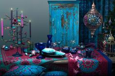 Beautiful bohemian decoration | jewel-tones