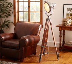Surveyor's Spotlight Floor Lamp