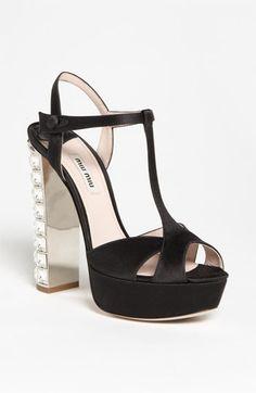 Festive crystal heel Miu Miu sandals