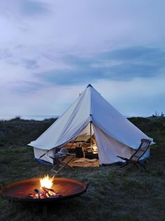 European style canvas tent