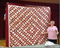 A terrific Blue Ridge Beauty done in reds and neutrals....so pretty!  Blue Ridge Beauty is found in my book Adventures with Leaders & Enders.  Signed copies can be ordered here: http://quiltvil.startlogic.com/store/index.html