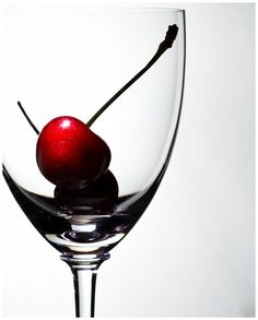 A cherry in glass