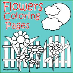 Flower coloring pages have so many uses beyond entertaining children and providing art for adult coloring. I like to use flower coloring pages...