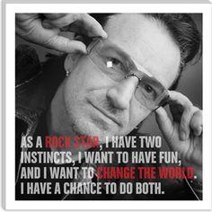 Rock Star, Bono Quote #u2 #rock We love u2's classic #sound ! Good ol ...