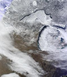 great lakes nasa photo michigan snow