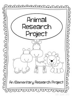 fourth grade animal research paper