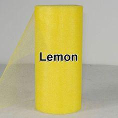 Lemon Shining TULLE Roll Spool 6x25yd 6x75' Tutu by pandorasecret, $2.90