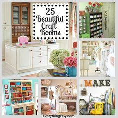 25 Beautiful Craft Rooms - super inspiring! #craftroom
