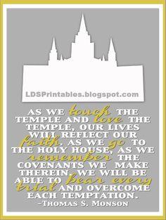 LDS Printables. temple