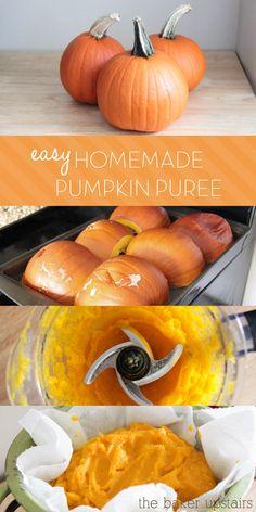 Homemade Pumpkin Puree Tutorial