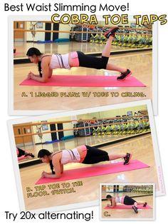planks, weight, waist slim, toe tap, exercis
