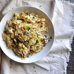 Pasta With Caramelized Onions, Mushrooms, and Gruyere