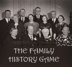Great way to teach family history basics!: The-Family-History-Game Directions and downloads to play available at www.continuallycreative.com