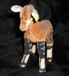 Steiff Okapi, made of velvet of the best quality.One of the wild animal series