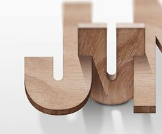 Wood typography by Daimu #typography