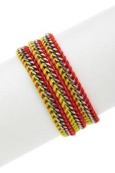Chan Luu- Chain & Leather Wrap Bracelet