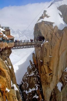 Aiguille du Midi Bridge, Mont Blanc massif, French Alps, France