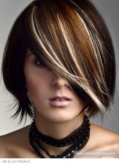 Medium hair highlights