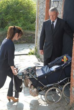 Doc Martin and Louisa Glasson with baby James Henry