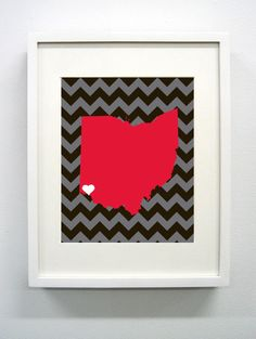 University of Cincinnati Giclée Print - 8x10 - Go Bearcats - Ohio State Print. $14.00, via Etsy.