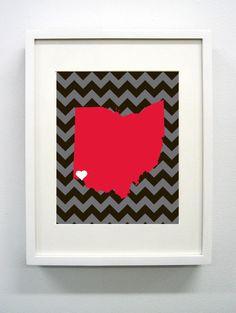 University of Cincinnati Giclée Print - 8x10 - Go Bearcats - Ohio State Print. $14.00, via Etsy.