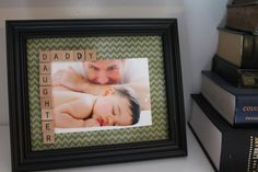 Daddy Daughter Scrabble Tile Picture Frame - Father's Day 8x10 Frame on Etsy, $15.00