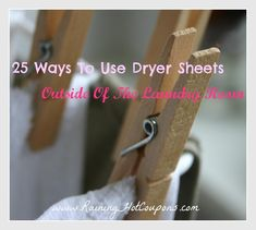 25 Ways To Use Dryer Sheets Outside Of The Laundry Room