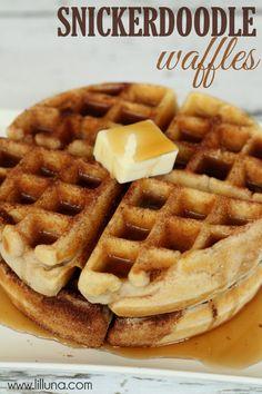 Snickerdoodle waffles. #yum #breakfast