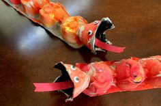 Chinese New Year Dragon...made from egg carton. From @Juggling WithKids