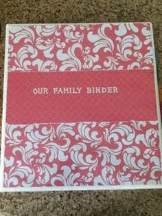 Family Binder (links to free printables)