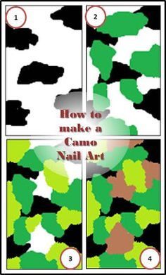 How to make a camo nail art