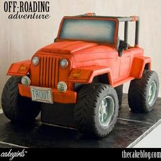 jeeps, chevy trucks, birthday, dessert tabl, wedding cakes, jeep cake, road, groom cake, grooms