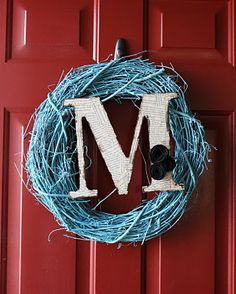 My new door wreath