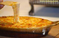 Queso Fundido con Chorizo - it's like a mexican, dipable fondue - and it's delicious!