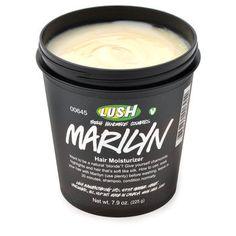 Lush Marilyn Hair Moisturizer- strengthens, replenishes moisture, AND gradually lightens platinum hair to keep the brassy hues away. $21.95