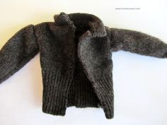 wool sweater for Ken doll.  Free pattern and tutorial