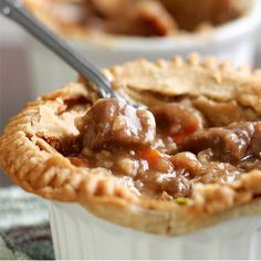Delicious hearty beef pot pie. Hearty Beef Pot Pie Recipe from Grandmothers Kitchen.