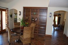 Floor tile accents in our San Diego home...I sure miss what we did!