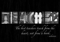 FOR A SPECIAL TEACHER Alphabet Photography Collage 5 x 7 Print - Teacher Gift on Etsy, $5.00
