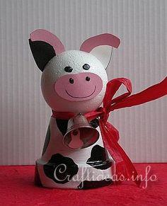 diy Clay Pot Cow