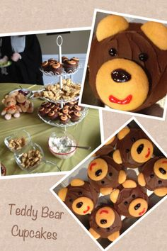 Teddy bear cupcakes for baby shower!