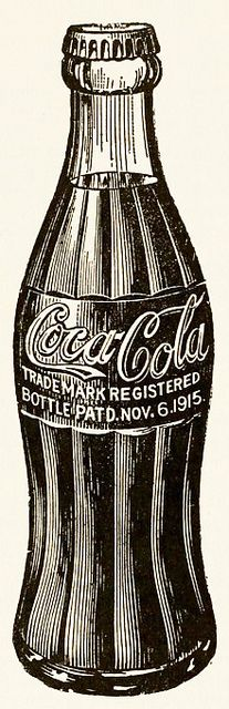 A classic Coca-Cola bottle illustration from 1937. #vintage #food #soda #1930s