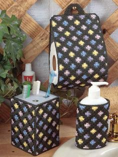 spring blossom, bathroom accessories, plastic canva, blossom bath