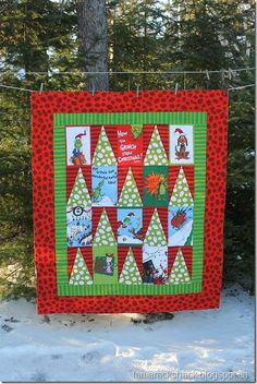 Grinch Christmas quilt