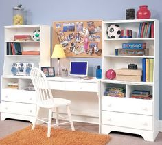 Would like a homemade desk just like this in our sitting room (storage for kids stuff, room for mommy to pay bills)!